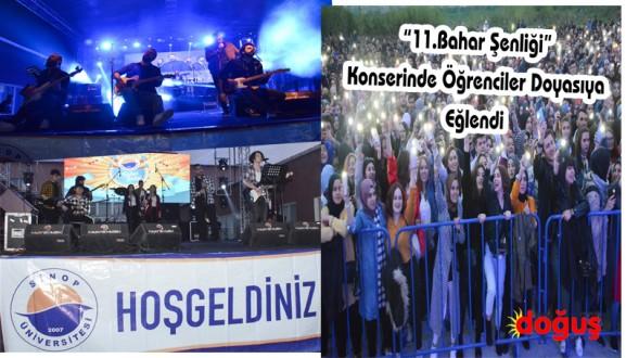 """""""11.Bahar Şenliği"""" Konserinde Öğrenciler Doyasıya Eğlendi"""