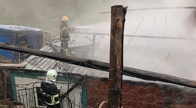 Ayancık'ta ev yangını