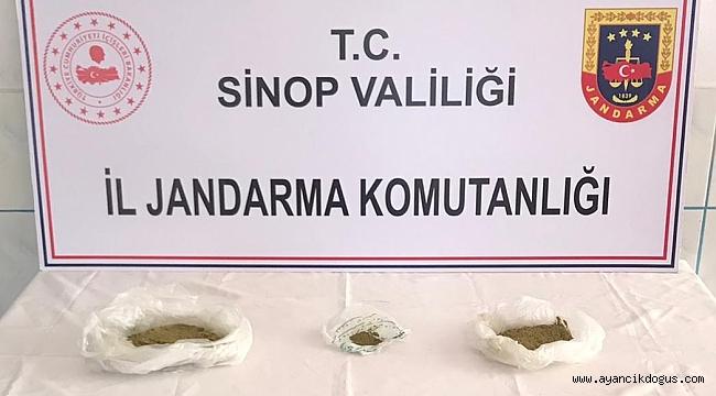Ayancık'ta uyuşturucu operasyonu: 1 gözaltı
