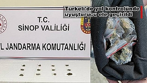 Türkeli'de yol kontrolünde uyuşturucu ele geçirildi