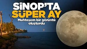 'Süper Ay' Sinop'tan da görüntülendi