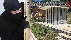Pes artık! Büyükdüz'deki şehit mezarlığın da bulunduğu yerde hırsızlık