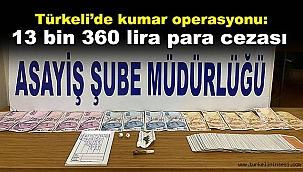Türkeli'de kumar operasyonu: 13 bin 360 lira para cezası