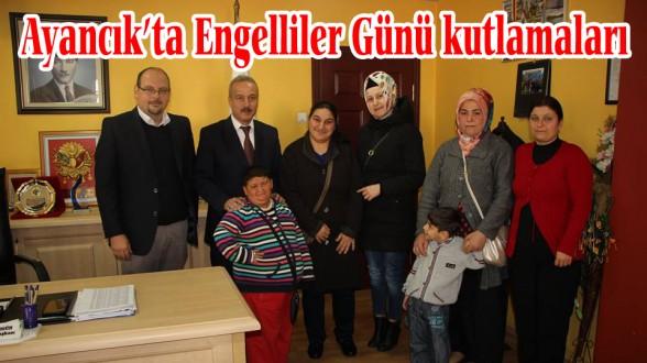 Ayancık'ta 3 Aralık Dünya Engelliler Günü kutlamaları