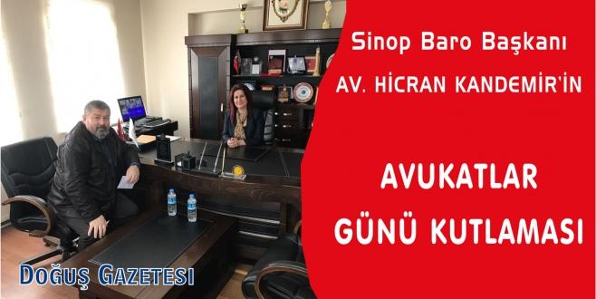 Sinop Baro Başkanı Av.Hicran KANDEMİR'in Avukatlar Günü Kutlaması