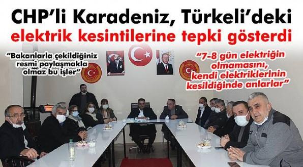 CHP'li Karadeniz'den Türkeli'deki elektrik kesintilerine tepki