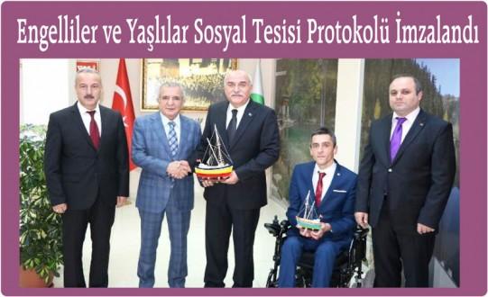 Engelliler ve Yaşlılar Sosyal Tesisi Protokolü İmzalandı