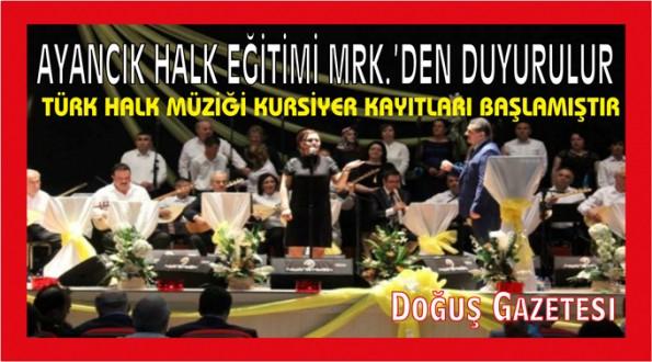 İlçemizde Türk Halk Müziği Kursiyer Kayıtları Başlamıştır