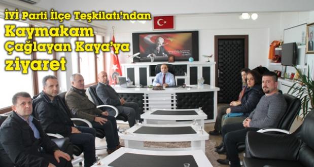 İYİ Partiden Kaymakam Çağlayan Kaya'a ziyaret