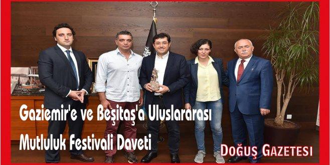 Gaziemire ve Beşiktaş'a Uluslararası Mutluluk Festivali Daveti