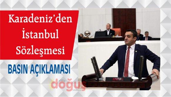Karadeniz'den İstanbul Sözleşmesi Basın Açıklaması