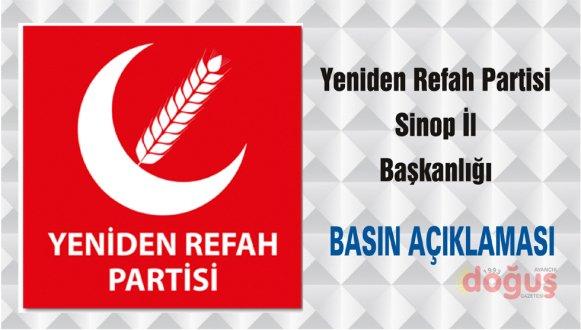 Yeniden Refah Partisi Sinop İl Başkanlığı Basın Açıklaması