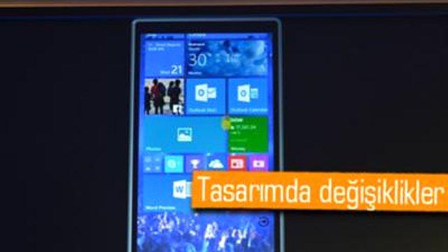Microsoft, telefonlar ve tabletler için Windows 10'u açıkladı.