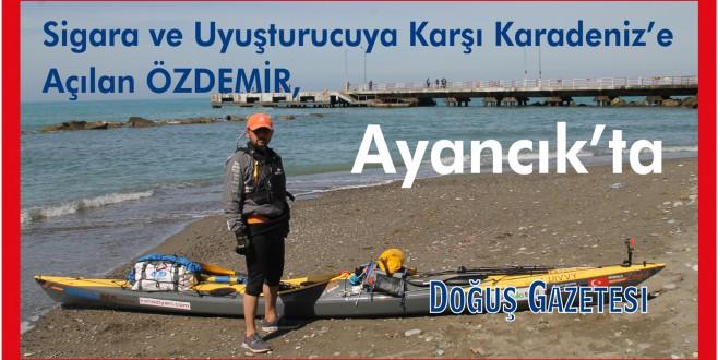 Sigara ve Uyuşturucuya Karşı Karadeniz'e Açılan Özdemir, Ayancık'ta