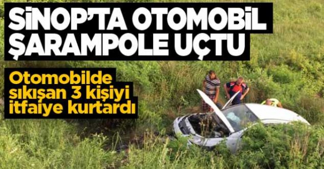 Sinop-Ayancık yolunda kaza: 3 yaralı