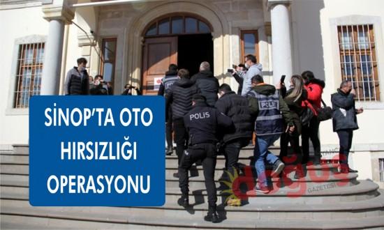Sinop emniyetinden oto hırsızlığı operasyonu
