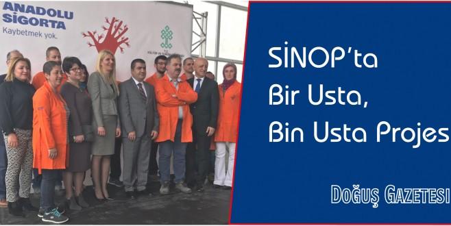 Sinop'ta Bir Usta, Bin Usta Projesi