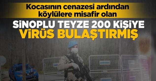 Sinop'ta eşi ölen teyze 200 kişiye virüs bulaştırmış