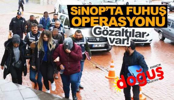 Sinop'ta fuhuş operasyonu: 5 kişi gözaltında