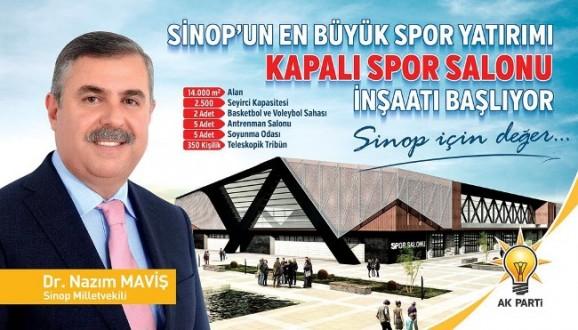 SİNOP'UN EN BÜYÜK SPOR YATIRIMI: KAPALI SPOR SALONU İNŞAATI BAŞLIYOR