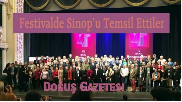 Uluslararası Festivalde Sinop'u Temsil Ettiler