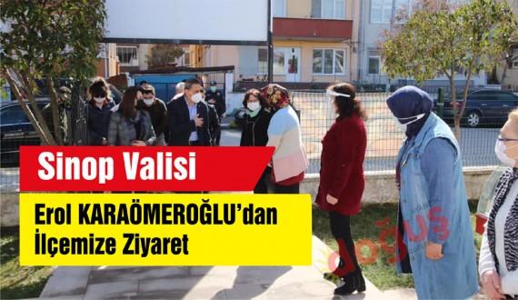 Vali Erol Karaömeroğlu'ndan Ayancık Ziyareti